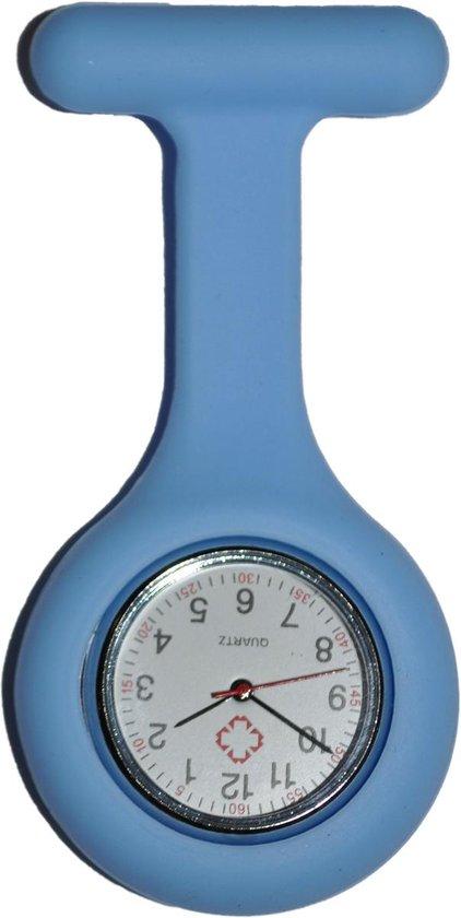 Unisex – Verpleeg horloge – Verpleegsterhorloge – Zusterhorloge – Siliconen – Baby blauw