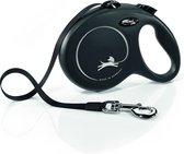 Flexi New Classic Tape - Hondenriem - Zwart - L - 5 m - (<50 kg)