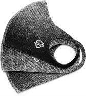 SafeSave denim jeans kinderen modieuze mondkapje- Herbruikbaar en wasbaar design mondkapjes - 100% neopreen waterdicht materiaal- niet medisch mondmasker-Ov/school verplicht unisex kinderen/jongeren 9 tot 14 jaar gezichtsmasker-3 stuks verpakt-Zwart