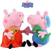 Peppa Pig Pluche Knuffels - Peppa en George 19 cm