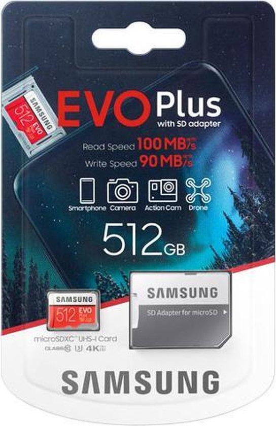 Samsung EVO Plus MicroSDXC 512 GB - Versie 2020