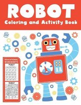 Robot Coloring and Activity Book Educational Worksheets