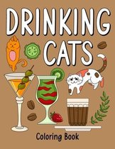 Drinking Cats Coloring Book