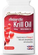 Antarctic Krill Oil v2 (KO60) gel caps/ 60 capsules (500 mg): een bron van Omega 3 en astaxanthine