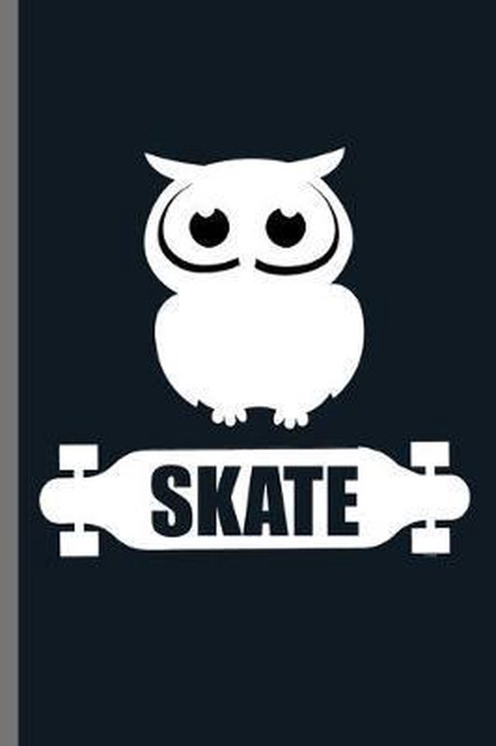 Skate: For Animal Lovers nocturnal Cute Owl Designs Animal Composition Book Smiley Sayings Funny Vet Tech Veterinarian Animal