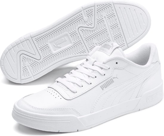PUMA Caracal Sneakers Heren - Puma White-Puma Silver - Maat 44.5