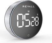 REVALL Digitale Kookwekker - Timer - Magnetisch - LED Display - Handige Draaiknop - Zwart -  Inclusief Batterijen