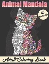 Animal Mandala Adult Coloring book