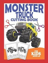 Monster Truck Cutting Book For Kids Ages 4-8