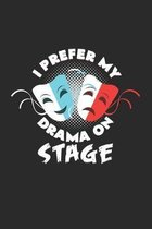 I prefer my drama on stage: 6x9 Theatre - grid - squared paper - notebook - notes