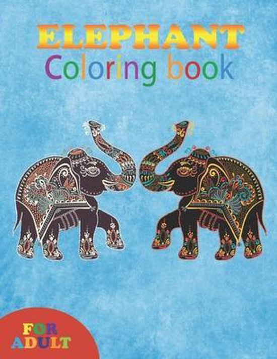 elephant coloring book for adult