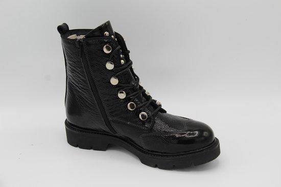 Muoviti ( piedro) zwart lak lederen biker boot- maat 42