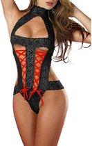 Sexy Lingerie Set bodystocking One Size Zwart