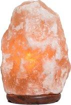 Zoutlamp Himalayazout 100% Natuurlijk, 4 tot 6 kg, inclusief snoer met schakelaar, en 15w lampje