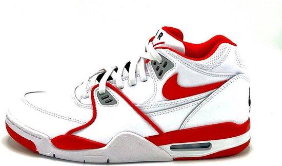 Nike Air Flight 89 LE (Wit/Rood) - Maat 44.5 EU / 10.5 US - 819665-100