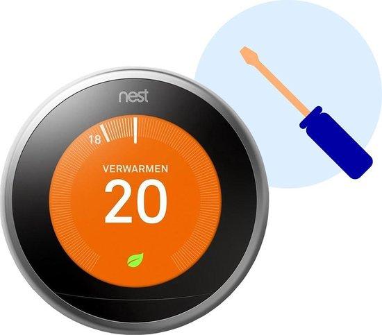 Google Nest Thermostaat Installatie door Zoofy  - Installatieafspraak gepland binnen 1 werkdag - Exclusief thermostaat