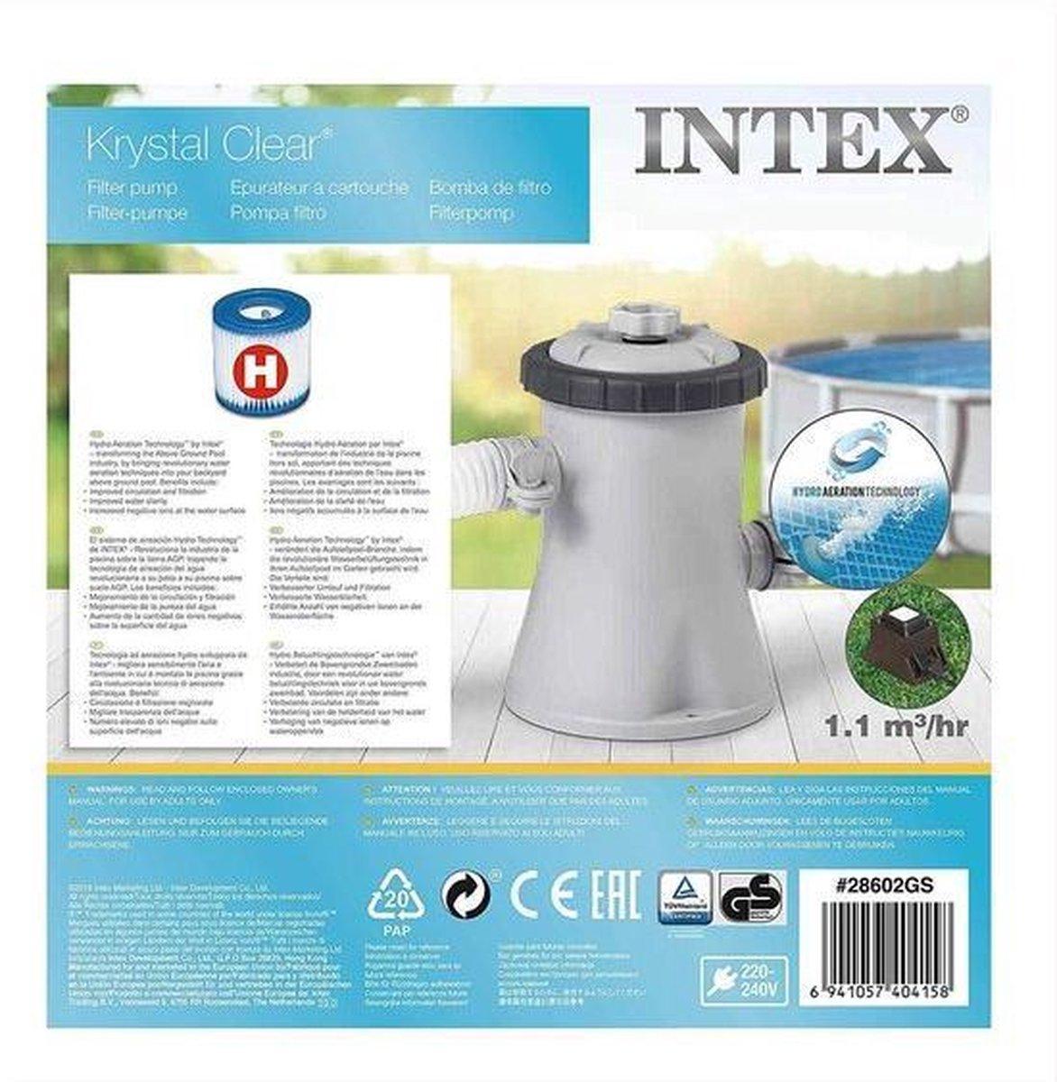 Intex Zwembadpomp - Filterpomp - 1250 liter/uur - 12V - Bestway Filter Schoonmaken Stofzuiger