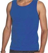 Blauwe tanktop / hemdje voor heren - Fruit of The Loom - katoen - mouwloos t-shirt / tanktops / singlet XL