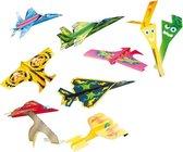 SES Vliegtuigjes Vouwen - Hobbypakket - Knutselen voor kinderen