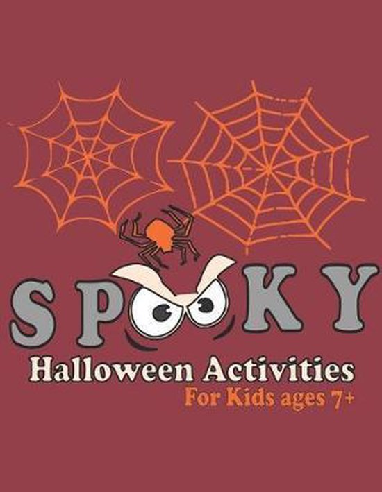 Spooky Halloween Activity Book for Kids Ages 7+: Crosswords, Word Search, Word Scramble, Color By Number, Drawing, and craft