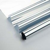 Zonwerende raamfolie 90cm x 2m transp/zilver