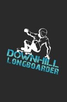 Downhill longboarder: 6x9 Longboarding - dotgrid - dot grid paper - notebook - notes