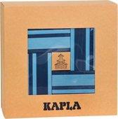 Afbeelding van KAPLA Kleur + Voorbeeldboek - 40 Plankjes - Licht- & Donkerblauw speelgoed