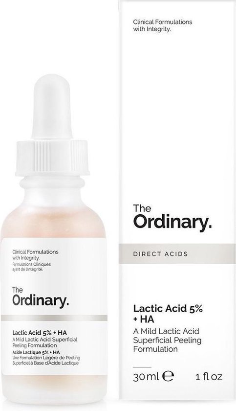 The Ordinary Lactic Acid 5% + HA 2% Gezichtspeeling