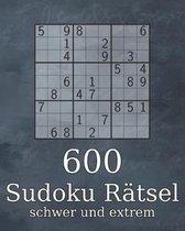 600 Sudoku Ratsel schwer und extrem