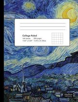 Starry Night Van Gogh Composition Book College Ruled Notebook