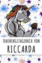 Trainingstagebuch von Riccarda: Personalisierter Tagesplaner f�r dein Fitness- und Krafttraining im Fitnessstudio oder Zuhause
