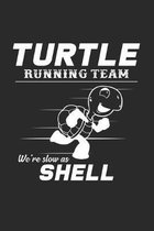 Turtle running team show as shell: 6x9 Turtle - dotgrid - dot grid paper - notebook - notes