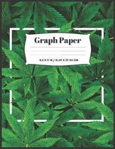 Cannabis Cover Graph Paper: 8.5''x11'' - 100 sheets