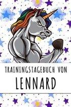Trainingstagebuch von Lennard: Personalisierter Tagesplaner f�r dein Fitness- und Krafttraining im Fitnessstudio oder Zuhause