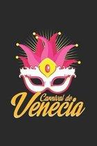 Carnival de venecia: 6x9 Carnival - grid - squared paper - notebook - notes