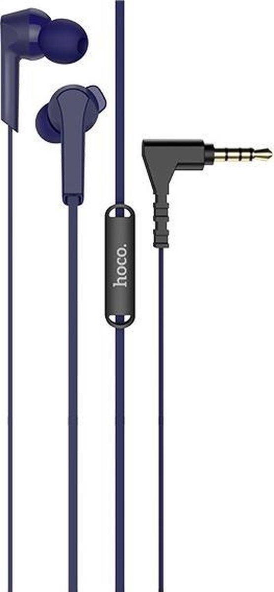 HOCO M72 Admire In-Ear Oordopjes – 3,5mm Audio-Jack Plug – 120cm Kabel – Hi-Res Audio + HD Microfoon – Blauw