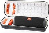 Lovnix JBL Flip Hoes -  Flip 4/5 Case - Beschermhoes voor de JBL Flip Speaker - met Extra Ruimte voor de Adapter - Wit