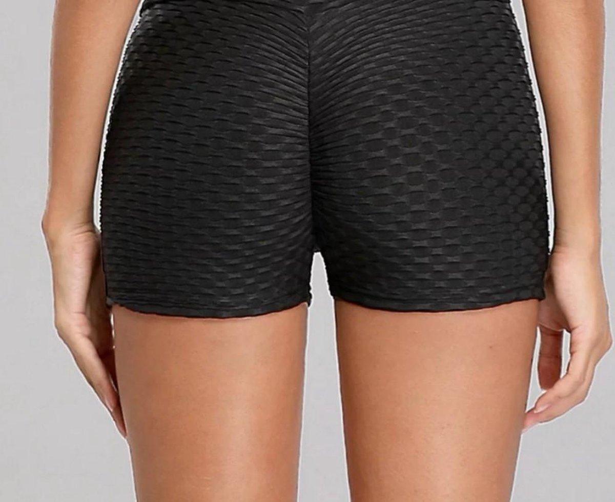 Sport shorts -Olamee-Absorberend-Zwart-Shorts Fitness-Sexy Zomer Short-Scrunch Butt-High Waist-Anti