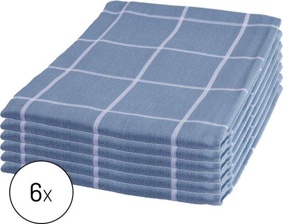 Byrklund Set Blauw - 6x Theedoek 50x70cm