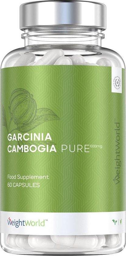 Garcinia Cambogia Pure - Effectieve Eetlustonderdrukker en Vetverbrander - 1000mg Dosering
