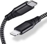 Lightning Kabel naar USB-C Kabel - 1 Meter Lightningkabel TechNow - Oplaadkabel & Synchroniseren voor Apple iPhone XR / XS Max / XS / 8 (Plus) / 7 / 6 + Apple iPad + Apple MacBook