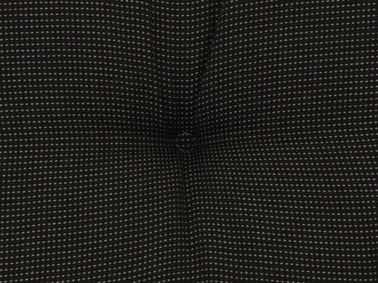 Bankkussen 220x48 cm Rib black