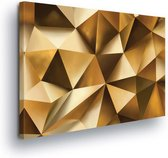 Pattern Abstract Gold Canvas Print 100cm x 75cm