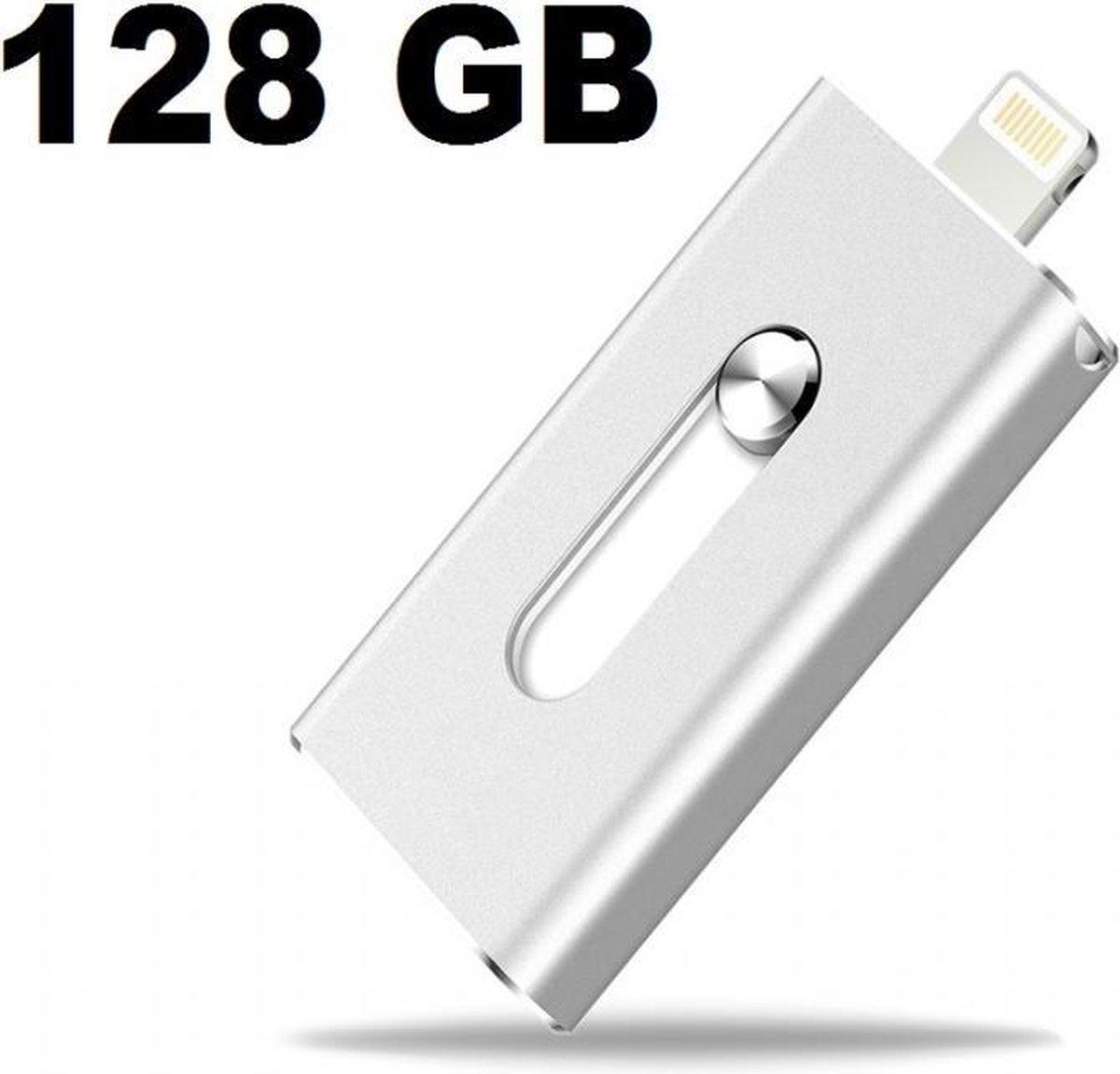 Flashdrive 128GB voor Apple/IOS lightning connector. Flash Drive 128GB USB stick ( iphone / ipod / ipad air 1,2,3, pro, mini)