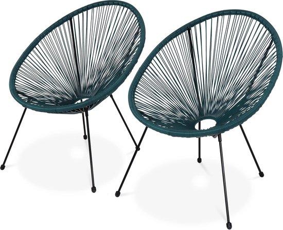 Plastic Design Stoelen.Bol Com Set Van 2 Design Stoelen Ei Vormig Acapulco Donker