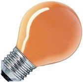 Oranje gloeilampje kogel E27 15W