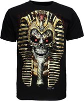 Pharao Skull 3D T-Shirt Glow in The Dark Zwart