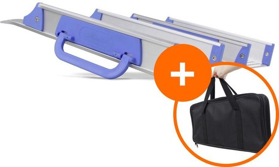 Datona® - Drempelhulp voor rolstoel + gratis handige draagtas oprijhulp rijplaat