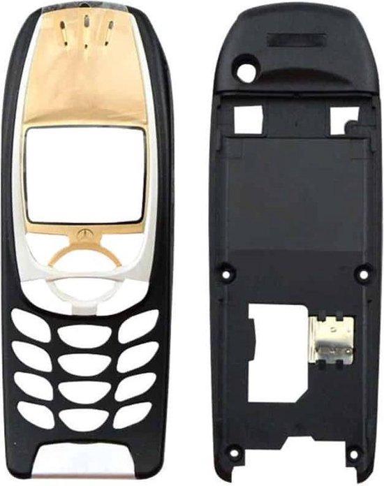Volledige behuizingsdeksel (voorkant + middenkaderring) voor Nokia 6310 / 6310i (goud)