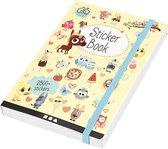 Stickerboek. afm 11.5x17 cm. dikte 1.5 cm. 1stuk. 80 pagina's